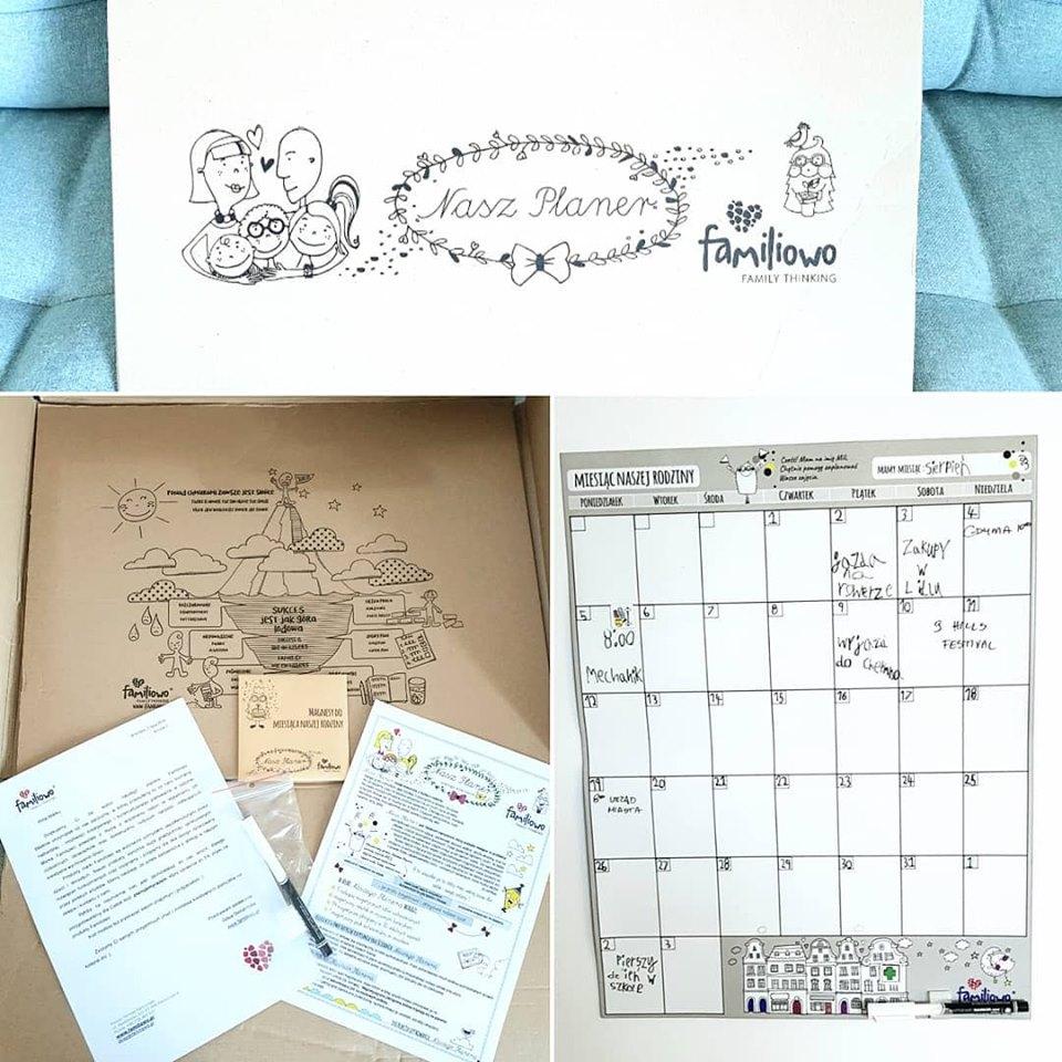 kalendarz na lodówkę familiowo